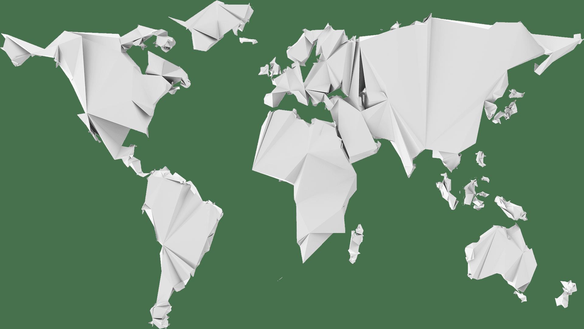 Paper craft world map