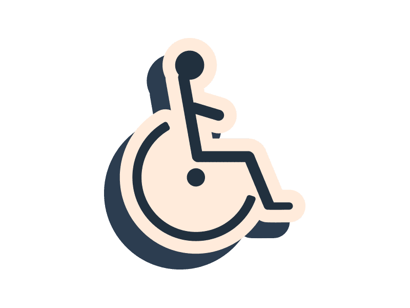 Paper wheelchair icon