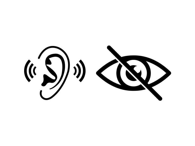 Hearing and vision problems